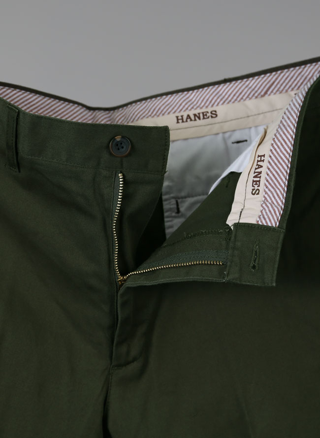 Hanes(ヘインズ)ストレッチノータックチノパンツ