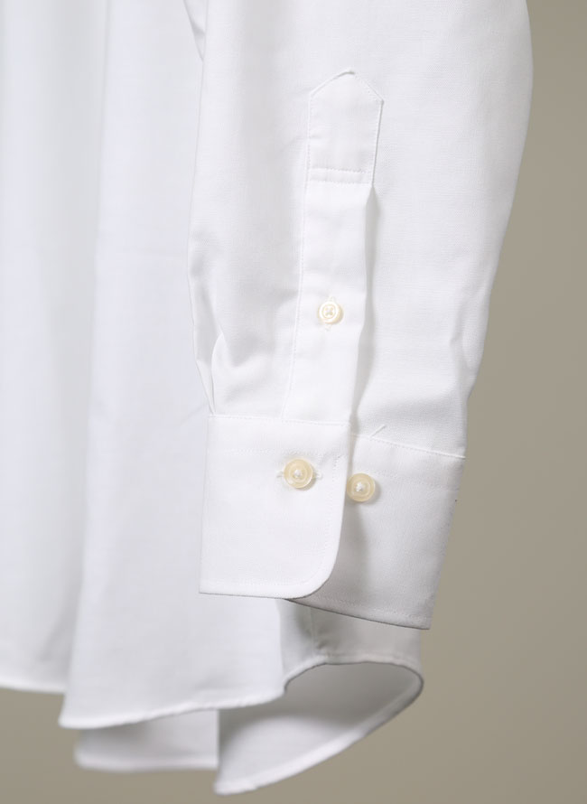 シンプル長袖オックスフォードシャツ