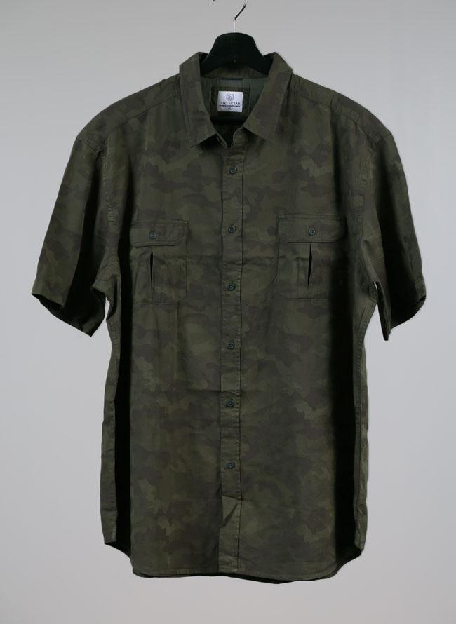 半袖迷彩ミリタリーシャツ[2L/3L/4L]