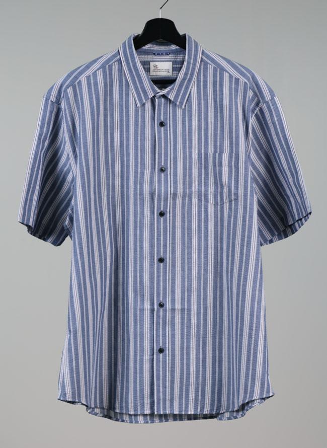 吸水速乾ストライプシャツ[3L/4L/5L]