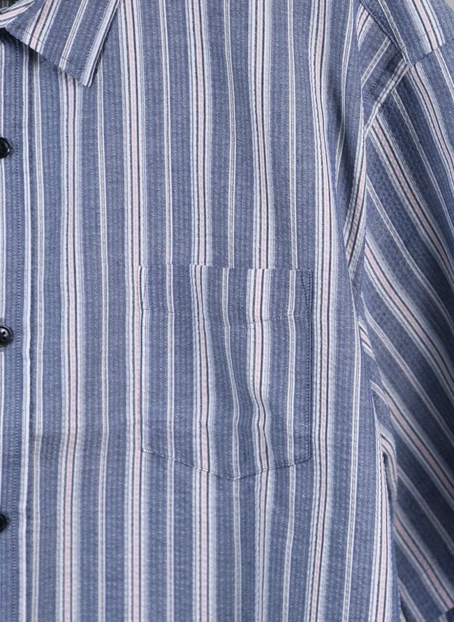 吸水速乾ストライプシャツ
