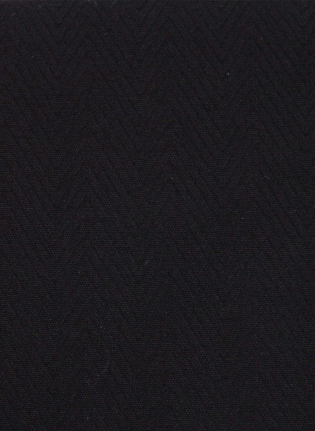 大きいサイズメンズQZILLA【HIROKO KOSHINO HOMME|ヒロココシノオム】ボタンダウン黒長袖シャツ