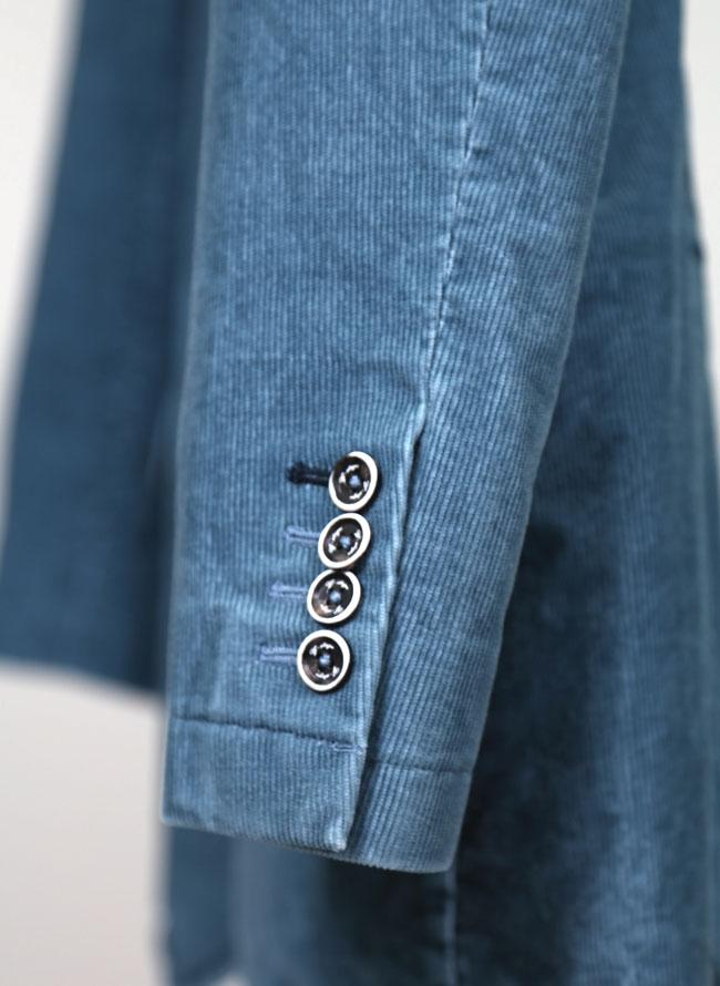 大きいサイズメンズQZILLAコーデュロイ素材ストレッチ2つボタンシングルジャケット