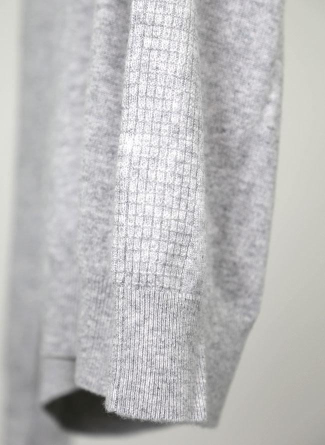 大きいサイズメンズQZILLAカシミヤ100%クルーネックニットセーター