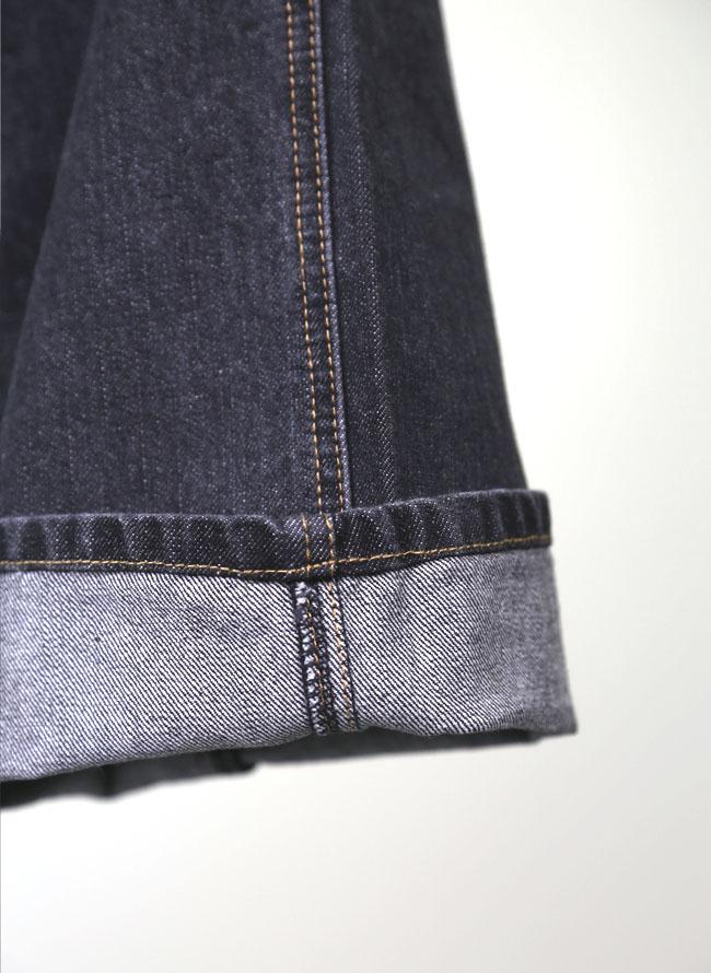 大きいサイズメンズQZILLAデニム合皮ZIPポケットストレートパンツ