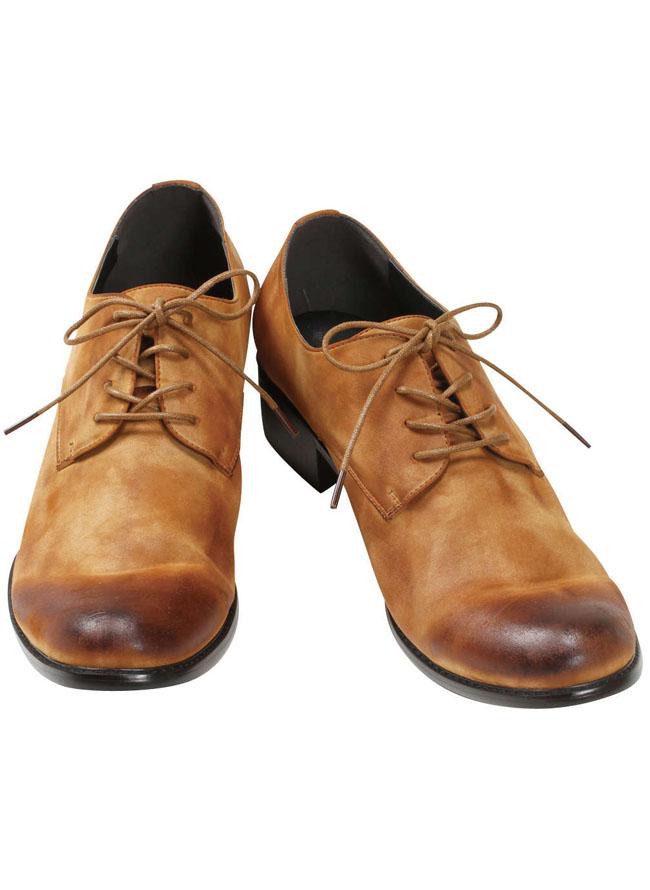 大きいサイズメンズQZILLAレースアップムラスエード短靴