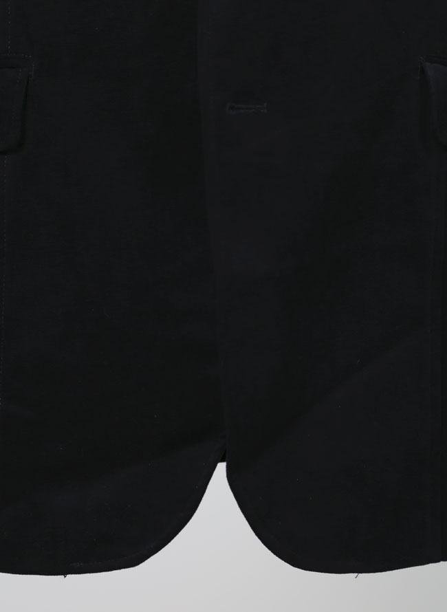 大きいサイズメンズQZILLAベロア素材ラッセル2つボタンジャケット