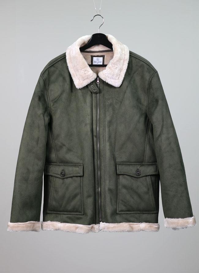 総ボアフェイクムートン襟ジャケットコート