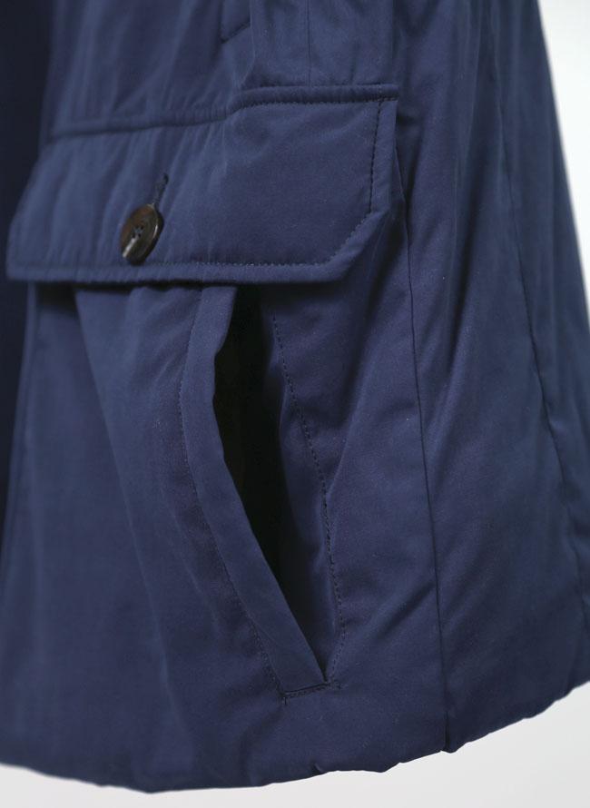 大きいサイズメンズQZILLAリブ襟2重ポケットジャケットコート