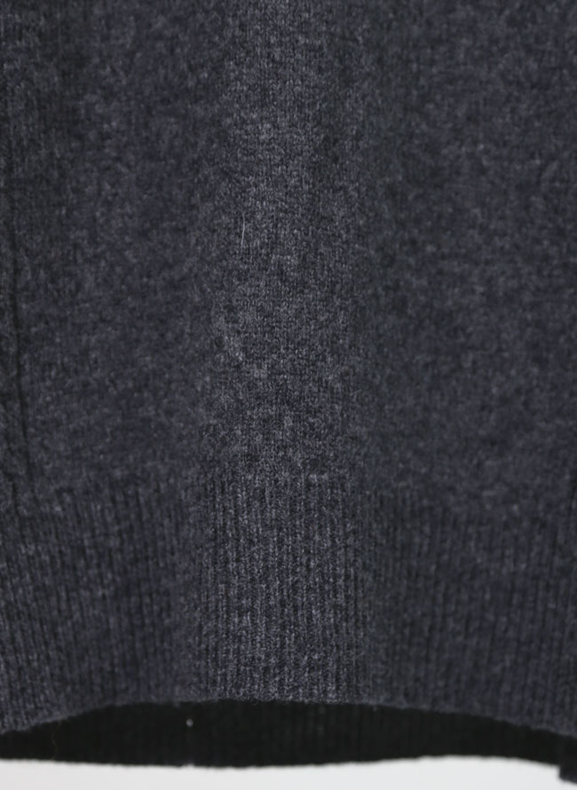 [ハーフジップ]ラム・メリノウールセーター
