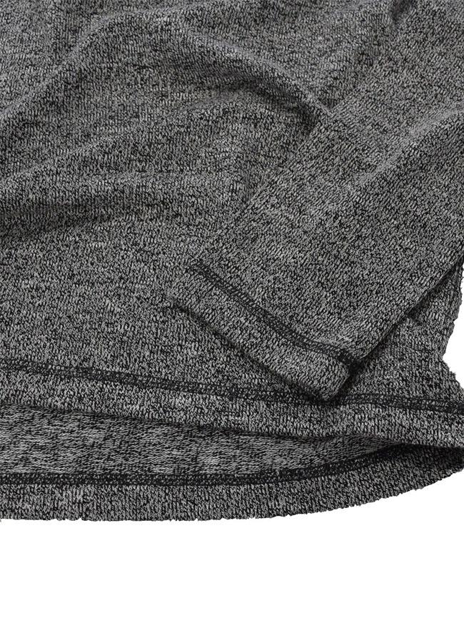 重ね着風ニットソーYヘンリーネックTシャツ