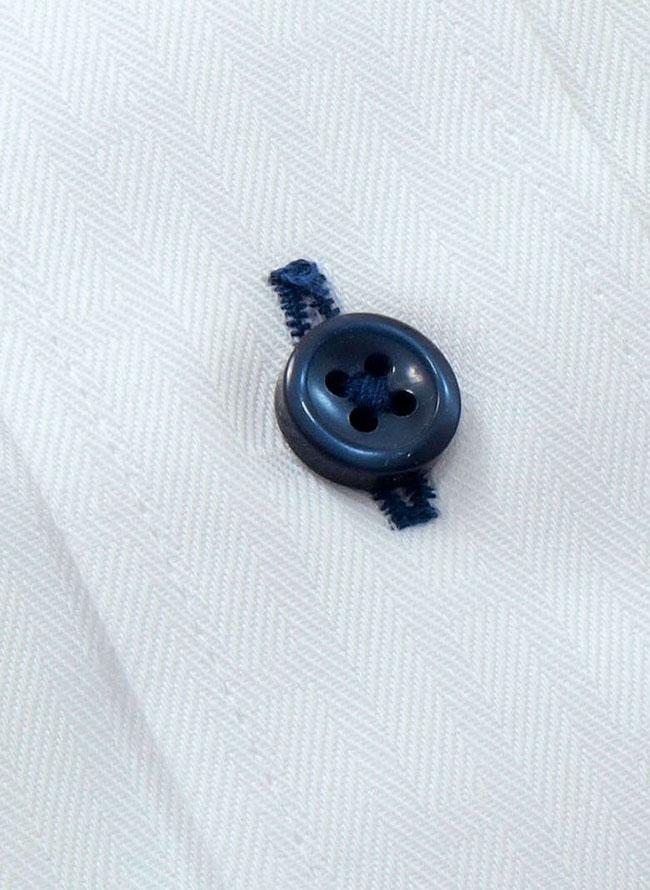 HIROKO KOSHINO HOMME (ヒロココシノオム) ブルーボタンホワイト長袖シャツ