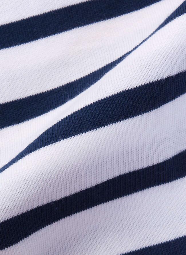 綿100%ボーダー長袖Tシャツ