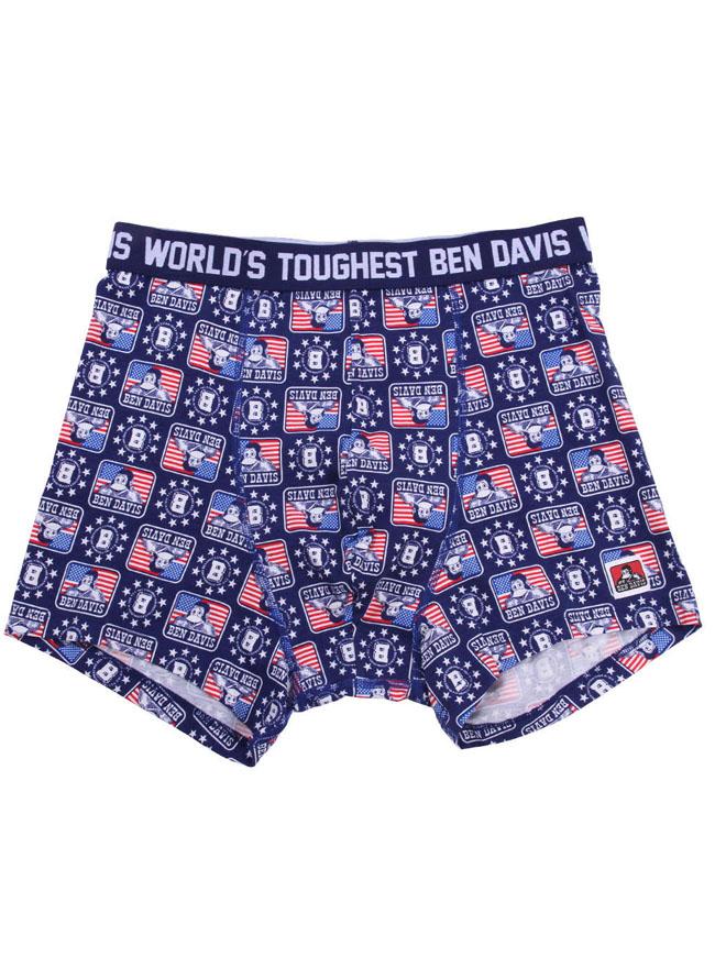 【返品交換不可】BEN DAVIS (ベン デイビス) 星条旗ゴリラ柄ボクサーパンツ