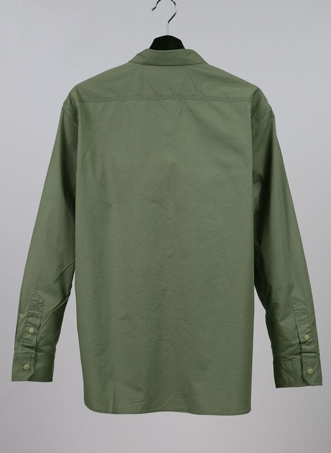CAPTAIN STAG(キャプテンスタッグ)裏メッシュ刺繍入りストレッチ機能シャツ
