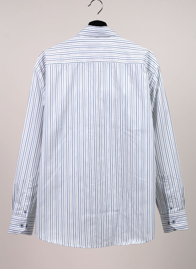 吸水速乾ストライプ柄長袖シャツ