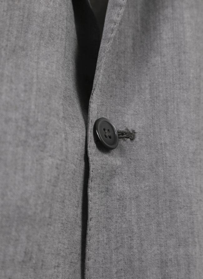 テンセル2つボタン春ジャケット
