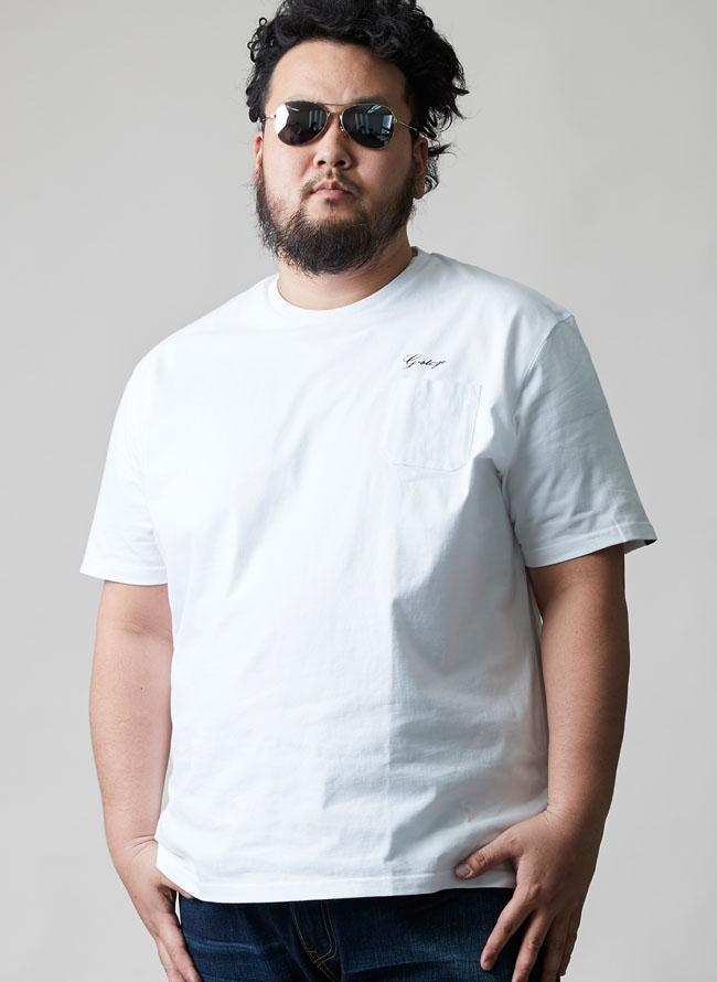 胸ポケットバックロゴTシャツ[2L/3L/4L]