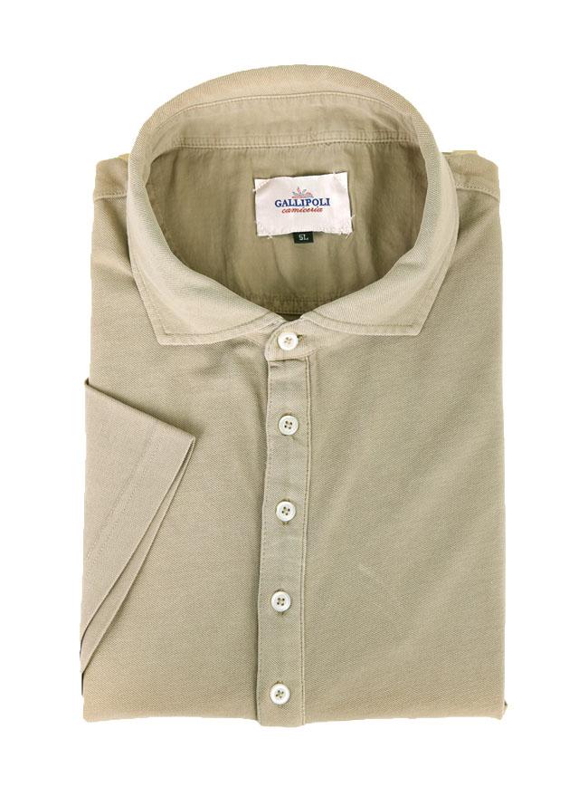 製品染め洗い加工コットン鹿の子半袖ポロシャツ[2L/3L/4L/5L]