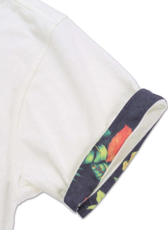 ボタニカル切替半袖ポロシャツ