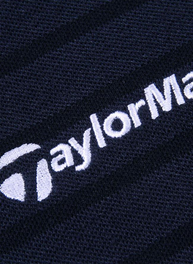 TaylorMade(テーラーメイド)メランジボーダー半袖シャツ