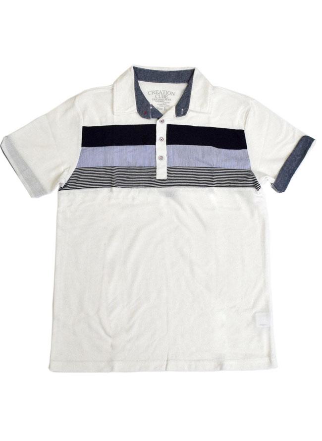 梨地そで折り返し3段切替ポロシャツ[2L/3L/4L/5L]