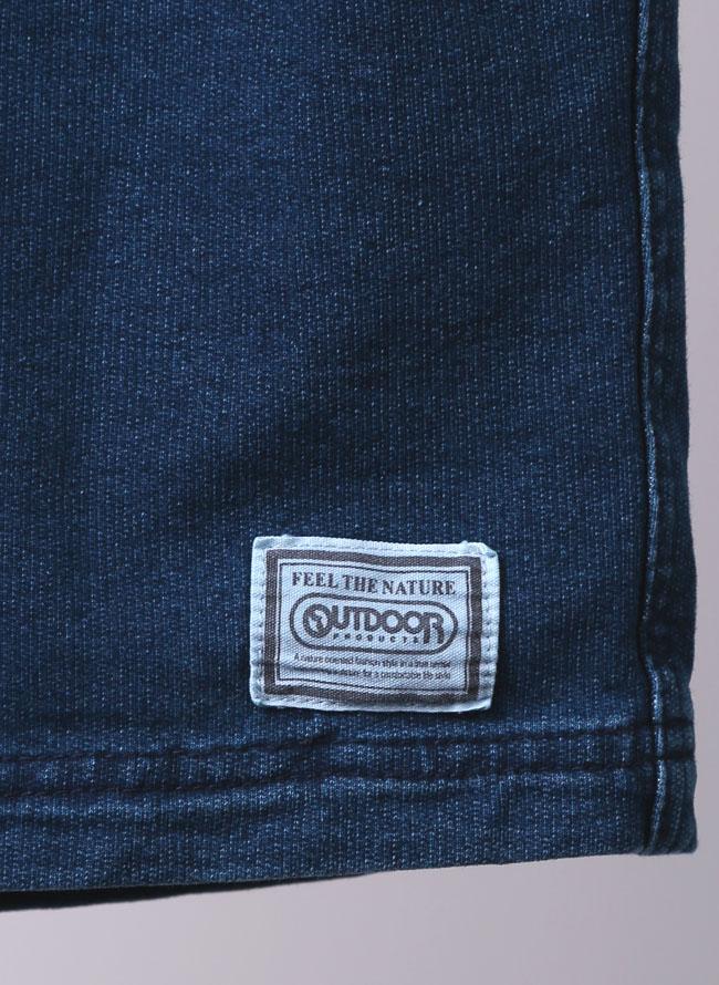 OUTDOOR(アウトドア)ニットデニムストレッチクライミングショートパンツ