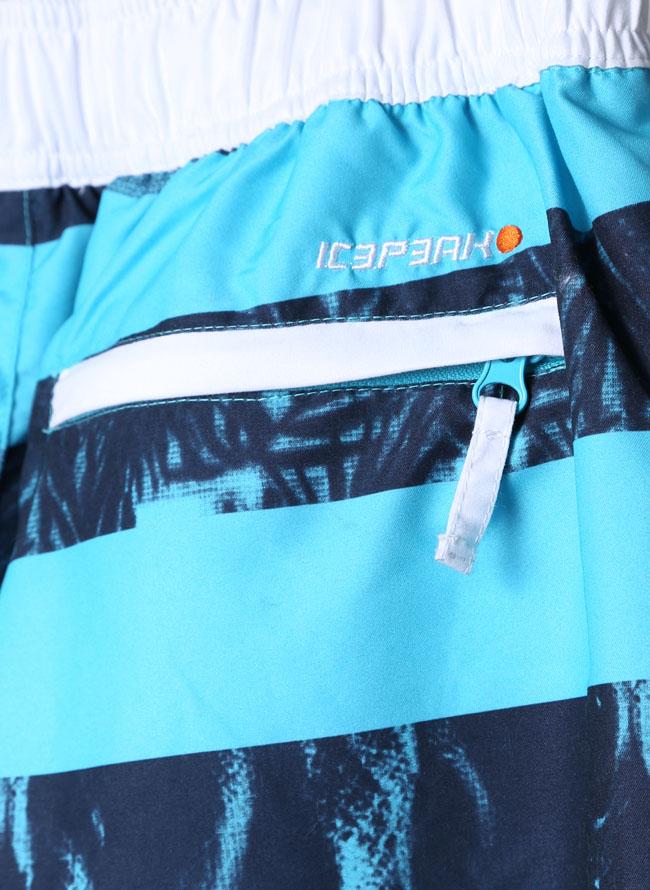 ICEPEAK(アイスピーク)ボタニカル柄ボーダープリント水着