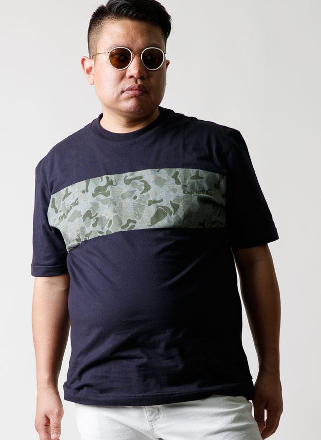 CAPTAIN STAG(キャプテンスタッグ)迷彩柄プリントTシャツ[2L/3L/4L/5L]