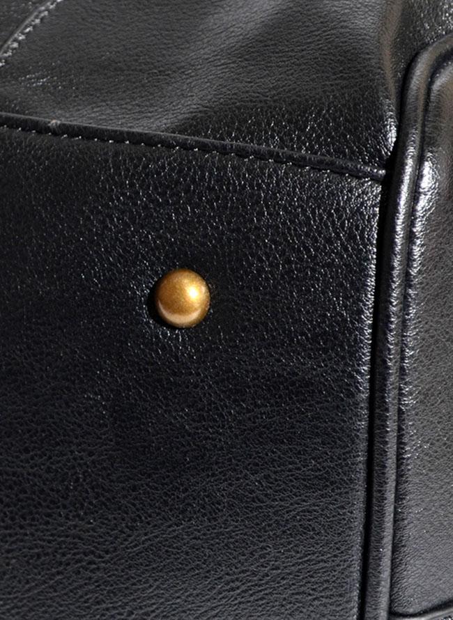 パスケース付き合皮ボストンバッグ