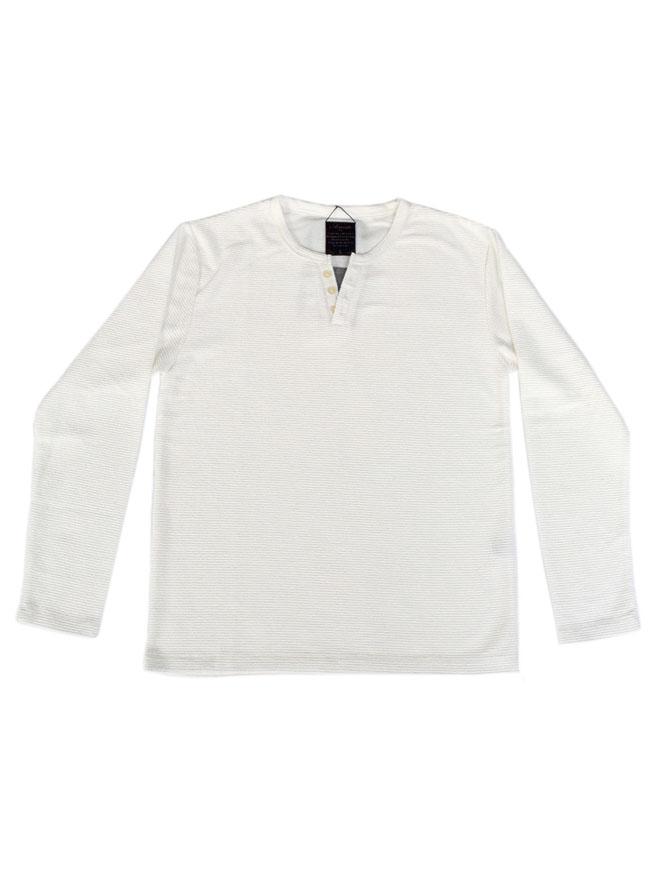 重ね着風キーネックTシャツ