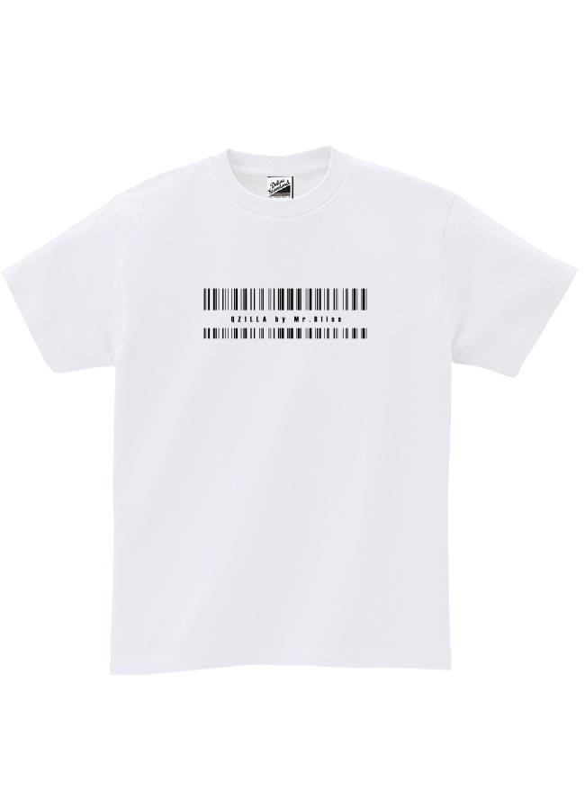 【大きいサイズメンズ】【QZILLAオリジナル】バーコードTシャツ