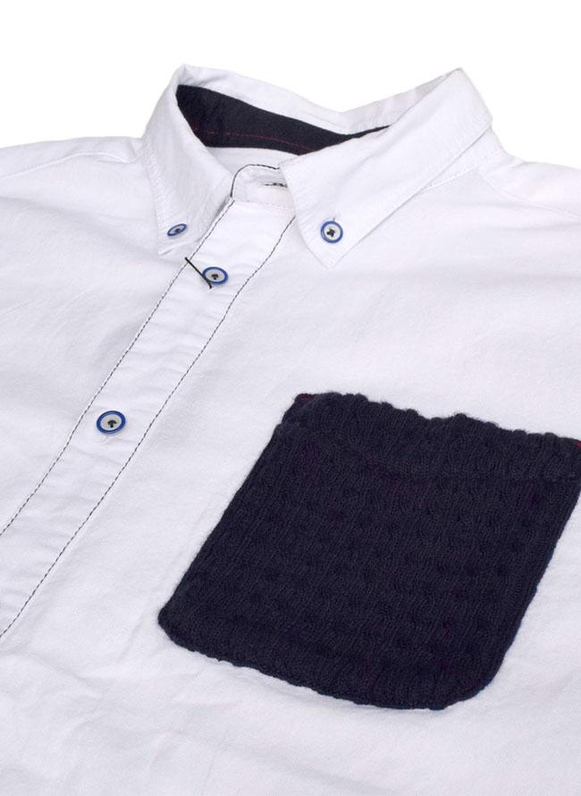ニットポケット付き長袖ボタンダウンシャツ詳細02