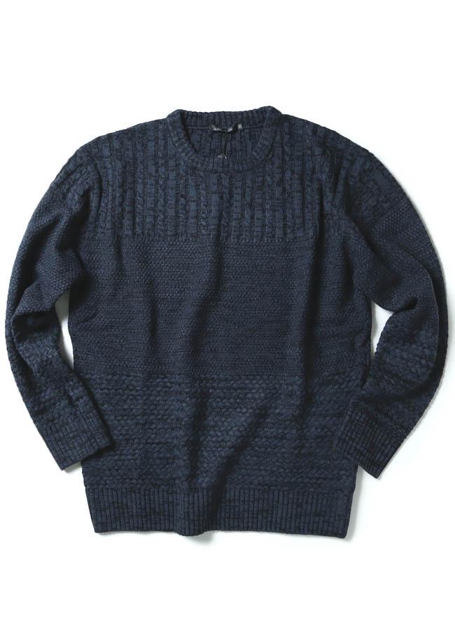 ケーブル×ラーベン編み変えウォッシャブルセーター ニットカラー2