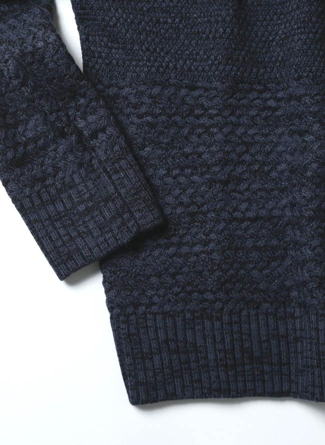 ケーブル×ラーベン編み変えウォッシャブルセーター ニット詳細03