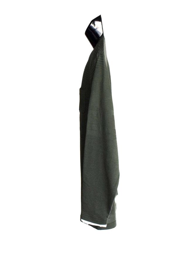 編みかえボーダー重ね着風ロングTシャツ詳細02