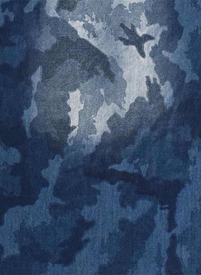 【大きいサイズ メンズ】迷彩 カモフラ プリント両フラップポケット長袖シャツ カジュアルシャツ 3L/4L/5L/詳細06