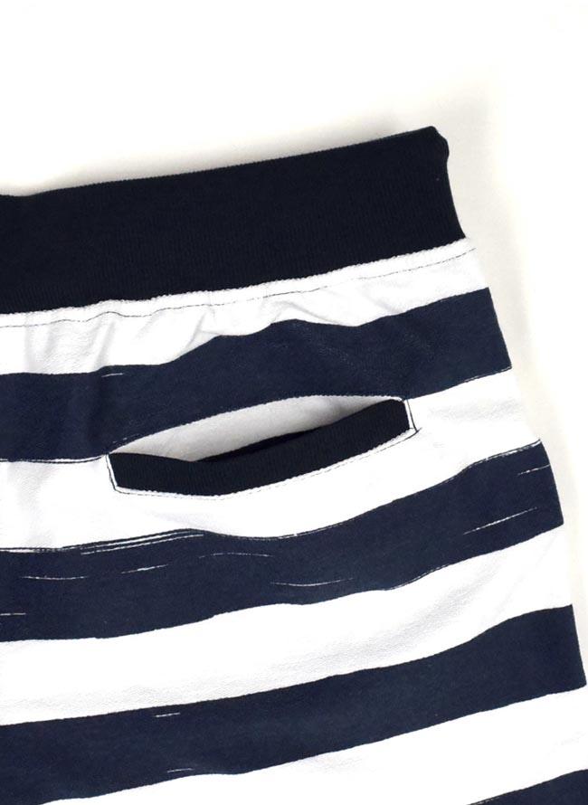大きいサイズショートハーフパンツメンズミニ裏毛EXCUSE白紺ボーダー3L4L5Lカジュアル紺白春夏