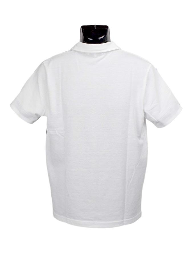 大きいサイズポロシャツメンズブロック切替CREATIONCUBEカノコ異素材3L4L5Lカジュアル白紺春夏
