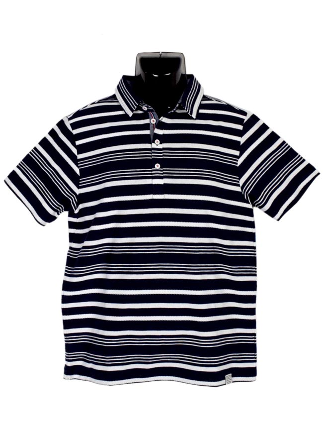 大きいサイズポロシャツメンズボーダー裏使いジャカード3L4L5Lカジュアル白赤紺春夏