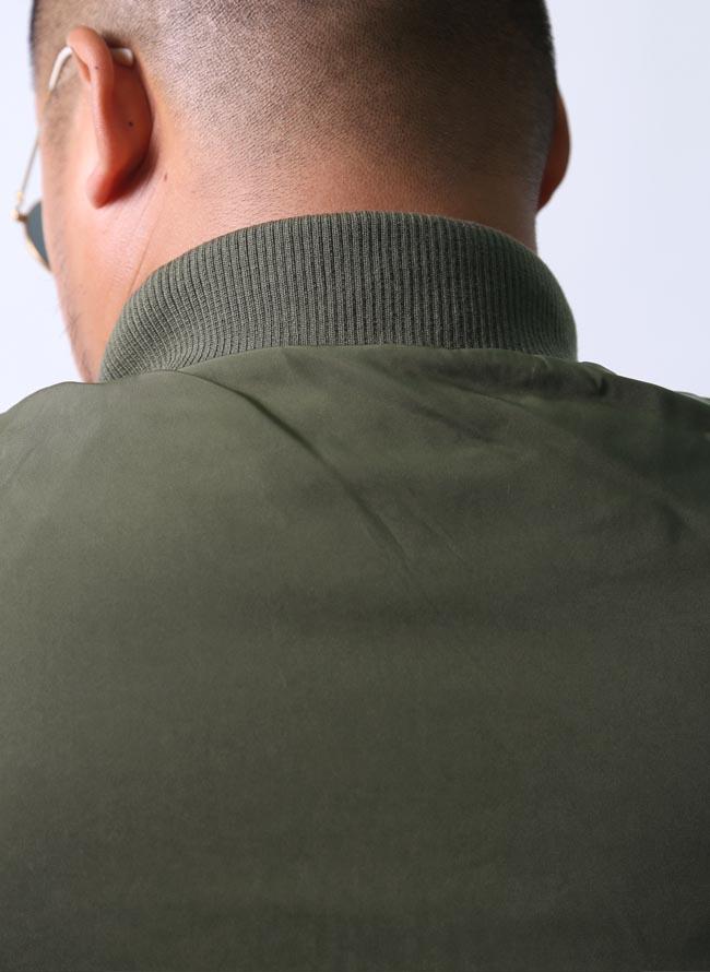 大きいサイズミリタリーコートメンズスタジャンミリタリージャケットフライトジャケットMA1MA-12L3L4L5L緑黒春秋冬