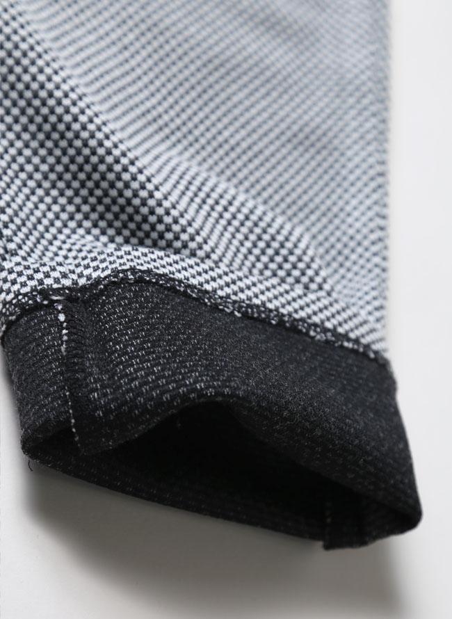 ワッフルイタリアン襟ストレッチセットアップ 上下セット カジュアル スーツ テーラードジャケット ジョガーパンツ詳細10