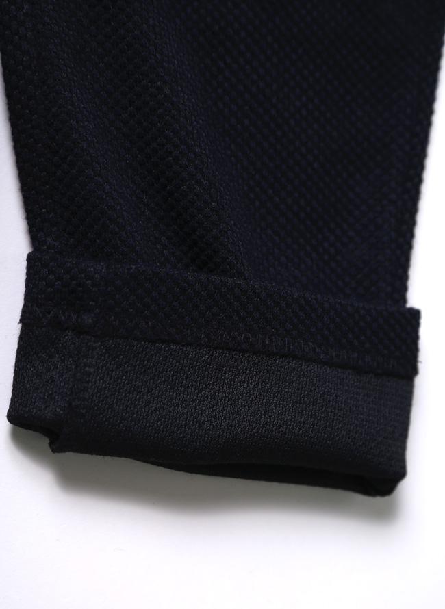 ワッフルイタリアン襟ストレッチセットアップ 上下セット カジュアル スーツ テーラードジャケット ジョガーパンツ詳細11