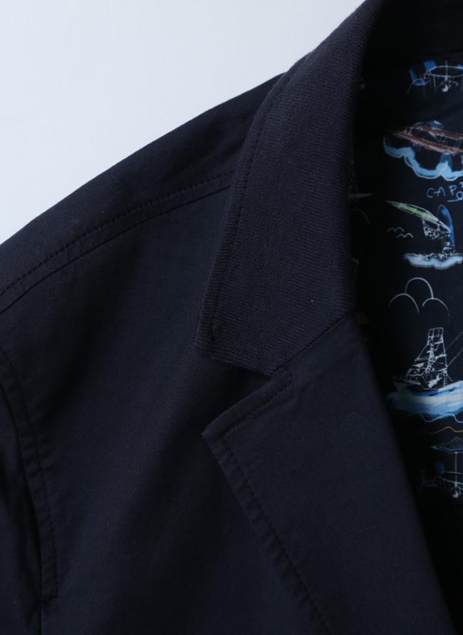 CAPRI(カプリ)異素材切り替えストレッチ2重ポケットジャケット イカリマーク テーラード詳細02