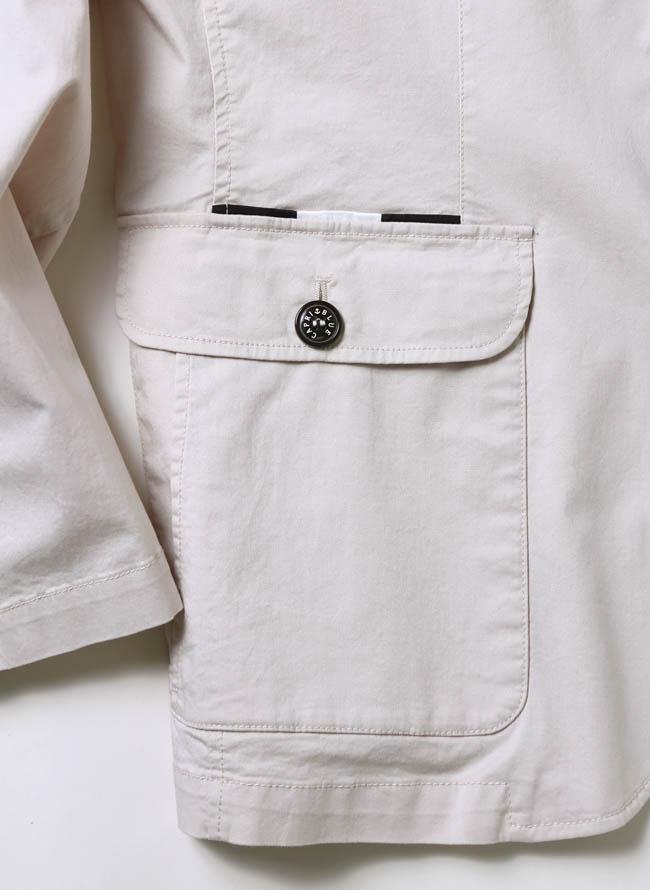 CAPRI(カプリ)異素材切り替えストレッチ2重ポケットジャケット イカリマーク テーラード詳細05