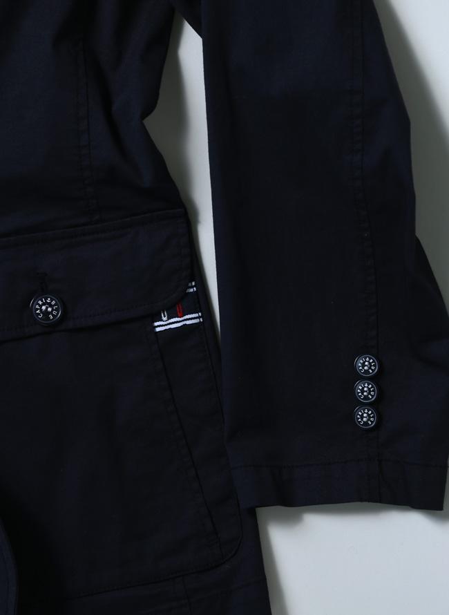 CAPRI(カプリ)異素材切り替えストレッチ2重ポケットジャケット イカリマーク テーラード詳細08