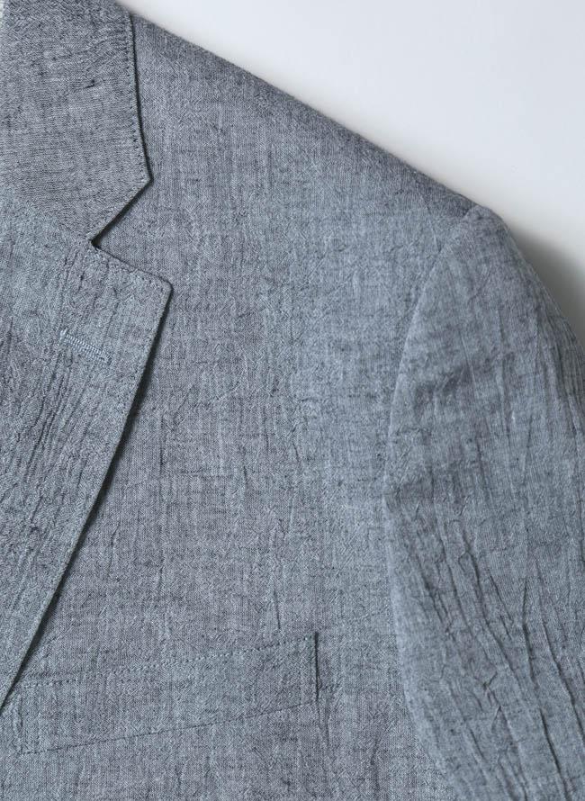裏地花柄しわ加工涼しい綿麻ジャケット詳細03