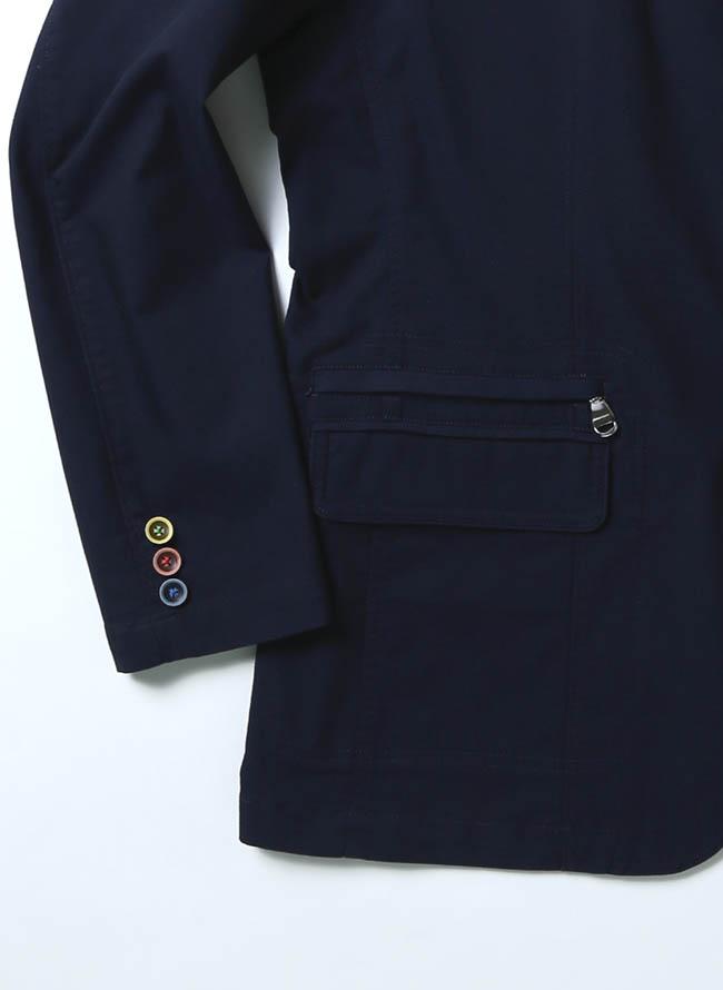 VAGIIE(バジエ)カラーボタン清涼ジャケット 紺 テーラード詳細06