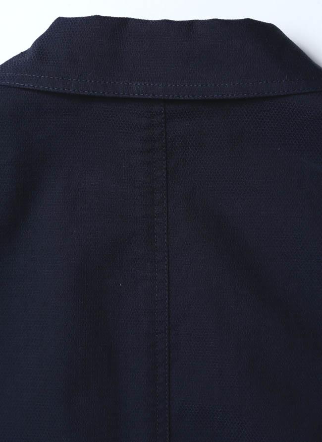 VAGIIE(バジエ)カラーボタン清涼ジャケット 紺 テーラード詳細09