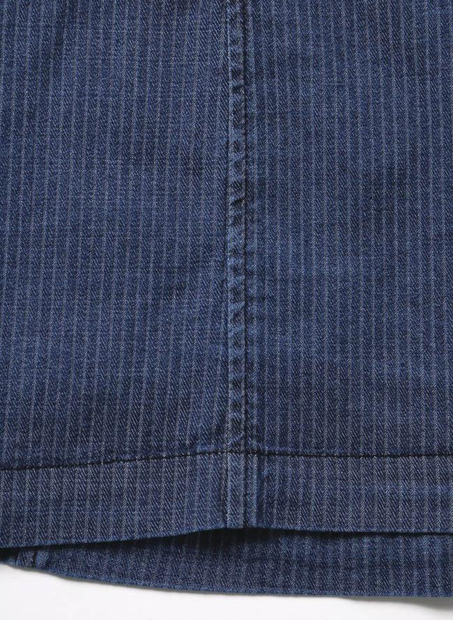 【1点限り】CAPRI(カプリ)ポケットチーフ付きデニムストライプ柄2重ポケットジャケット詳細08
